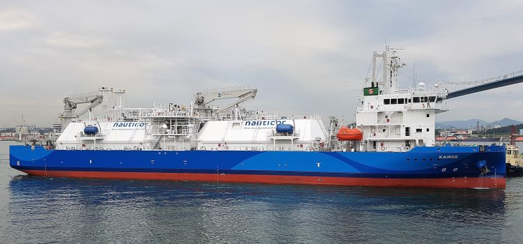 """THE WORLD'S LARGEST LNG BUNKER SUPPLY VESSEL """"KAIROS"""" HAS STARTED ITS VOYAGE TO EUROPE"""